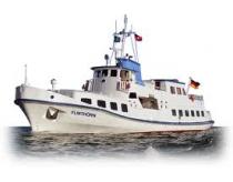 Fährfahrt mit der MS Flinthörn von Bensersiel nach Langeoog im Juli 2018