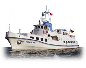 Fährfahrt mit der MS Flinthörn von Bensersiel nach Langeoog im Januar 2018